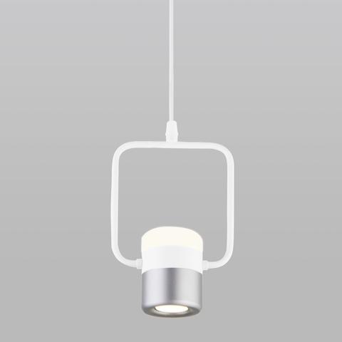 Люстра подвесная светодиодная EUROSVET 50165/1 LED Белый/Серебро