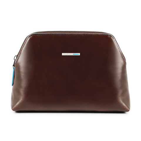 Косметичка Piquadro Blue Square, коричневая, 21,5x14,5x5,5 см