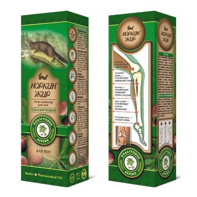 """Норкин жир™ - """"Norkinjir®"""" Гель-эликсир для ног тонизирующий с конским каштаном (подагровое дерево), 70 г"""