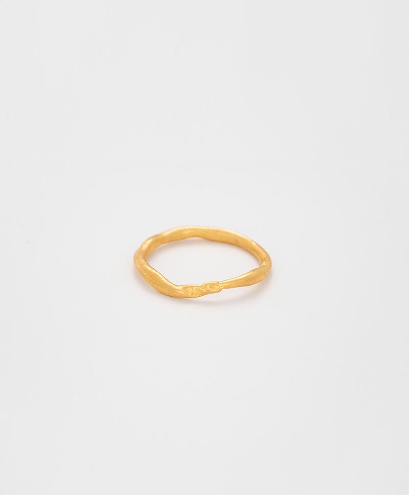 Кольцо Moon gold plated