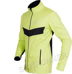 Детская тёплая лыжная куртка Nordski Jr. Base Lime-Black