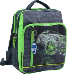 Рюкзак школьный Bagland Школьник 8 л. Серый (машина 16) (00112702)