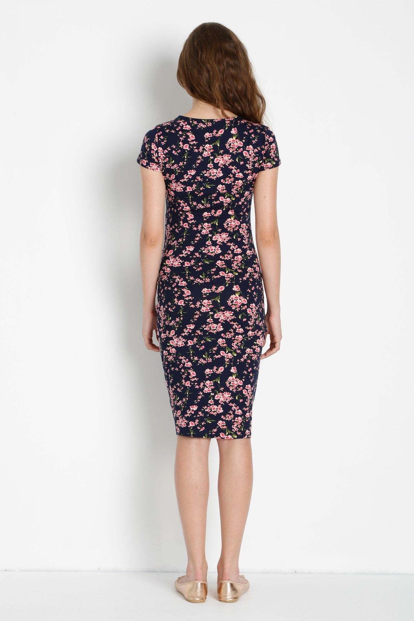 Фото платье для беременных GEBE от магазина СкороМама, цветы, размеры.
