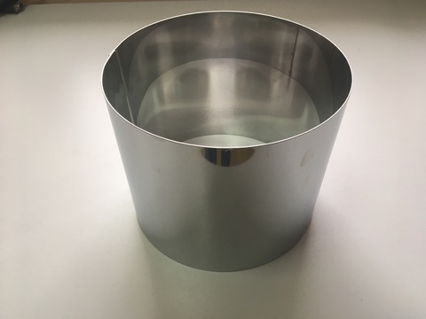 Кольцо-резак для торта H15 D18, нерж. сталь 1 мм.