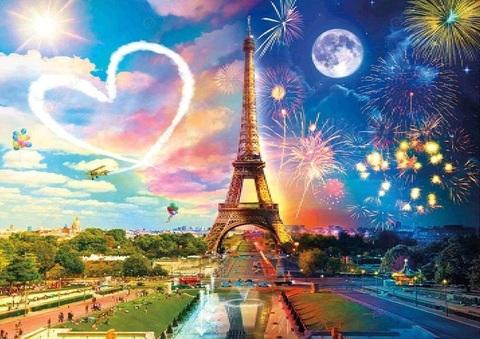 Алмазная Мозаика 40x50 Переход из дня в ночь в Париже (арт. 2PAV730)