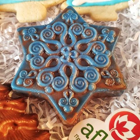 Фотография Шоколад молочный фигурный «Снежинка» / 45 гр купить в магазине Афлора