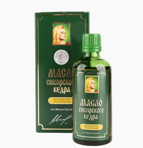 Кедровое масло с прополисом, 100 мл родовые поместья Сибири