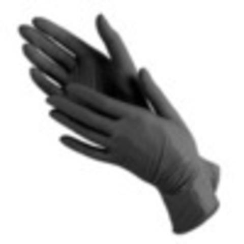 Перчатки нитровиниловые черные размер S, упаковка 50пар