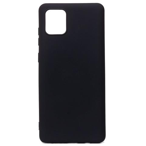 Чехол для Samsung (N770) Galaxy Note 10 Lite Софт тач мягкий эффект   микрофибра черный