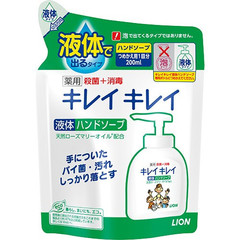 Мыло жидкое для рук, Lion, KireiKirei, Цитрус, розмарин, сменный блок, 200 мл