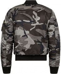 Бомбер Alpha Industries MA-1 Slim Fit Tonal Black Camo (Камуфляж)