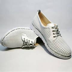 Спортивные туфли сникерсы женские GUERO G177-63 White