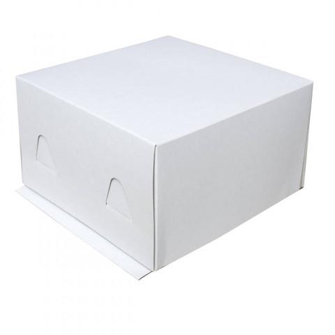 Коробка для торта без окна, 26*26*18см (белая)