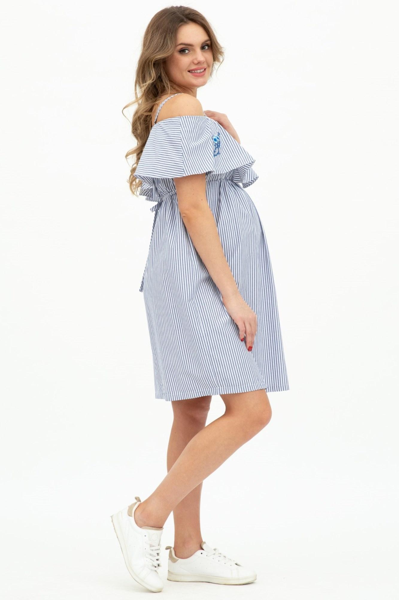 Платье для беременных 08491 полоска