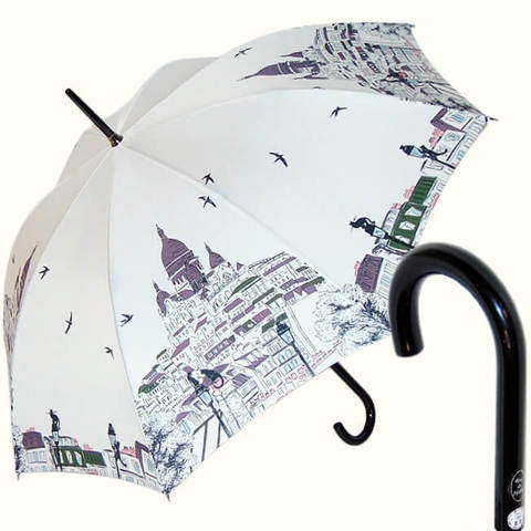 Белый женский зонт Монмартр, париж