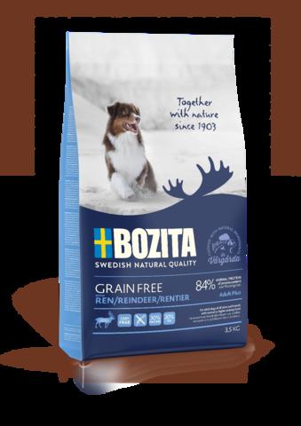 Bozita Grain Free Reindeer 30/20 Сухой корм для взрослых собак с нормальным и повышенным уровнем активности, с мясом оленя (беззерновой)