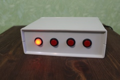 Control console for hamradio antenna switch 4 positions