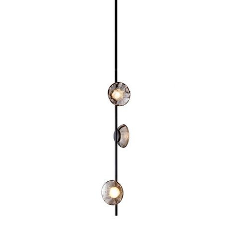 Потолочный светильник копия Ceto by Ross Gardam вертикальный (черный)
