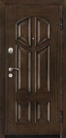 Дверь входная Monte Bello 380 стальная, орех, 2 замка