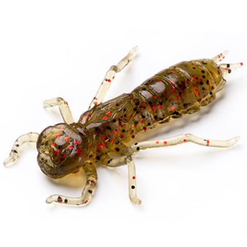 Силиконовая приманка FishUP Dragonfly цвет № 045 - Green Pumpkin/Red & Black