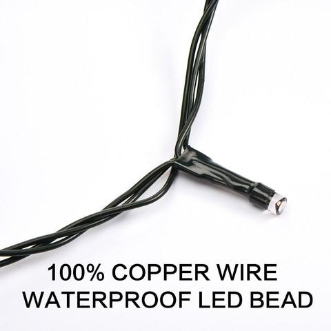 Светодиод led гирлянды нить 10 метров 100 led фиолетовой