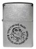 Зажигалка Zippo Горилла с покрытием Brushed Chrome, латунь/сталь, серебристая, матовая, 36x12x56