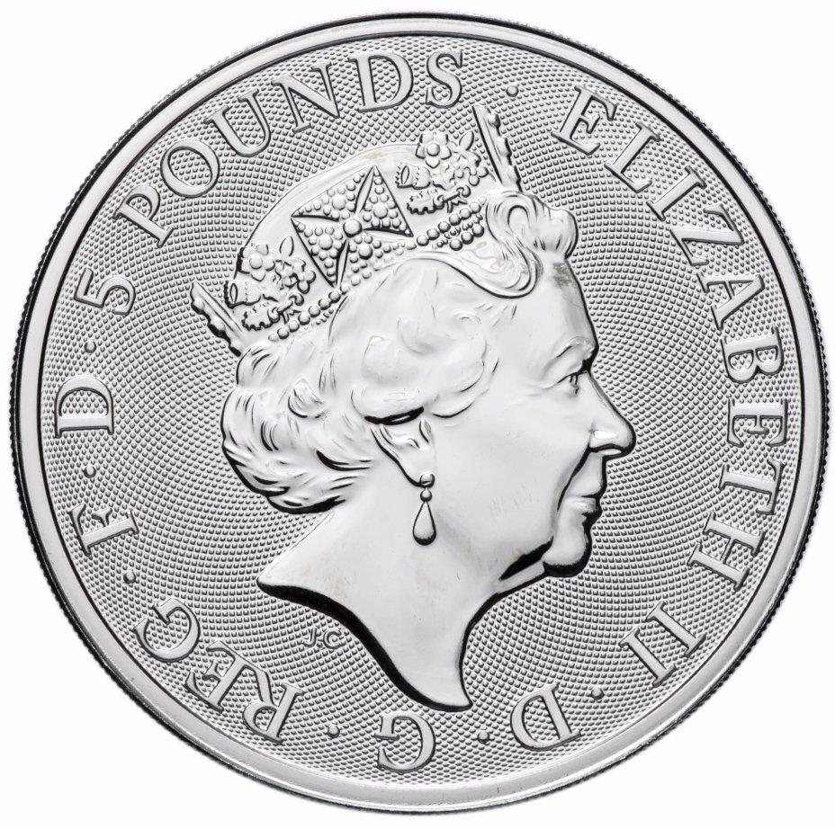5 фунтов. Звери Королевы — Единорог Шотландии. Великобритания. 2018 год