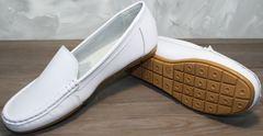 Женская обувь мокасины AESD 902 White