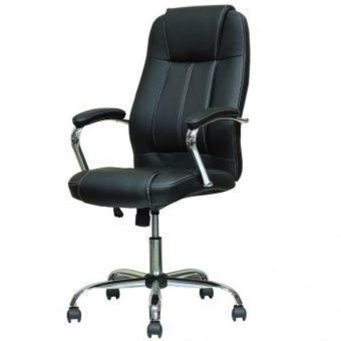 Кресло  для руководителя черная кожа