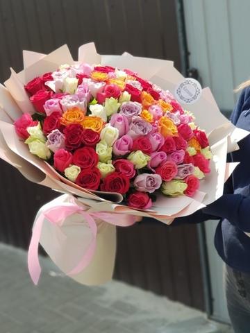 101 роза Разноцветные