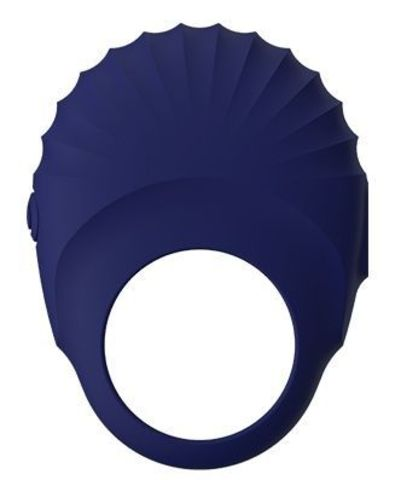 Синее эрекционное виброкольцо PALLAS