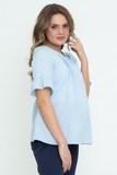 Блузка для беременных 09584 голубой