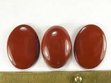 Комплект кабошонов яшмы красной 28x20x3 мм - 2 шт., 26x18x8 мм - 1 шт.