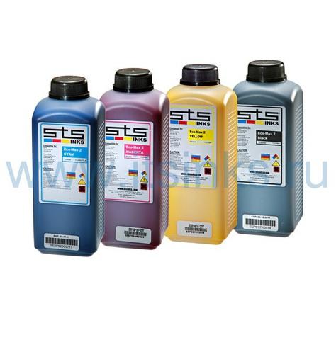 Комплект эко-сольвентных чернил STS Eco-Max2 4x1000 мл