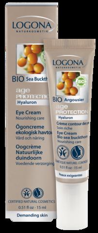 LOGONA Age Protection Крем вокруг глаз против морщин с Био-Облепихой