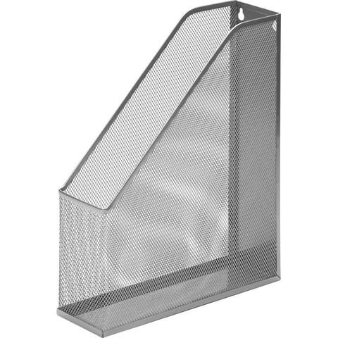 Вертикальный накопитель для бумаг Attache (металлическая сетка, ширина 72 мм, серебро)