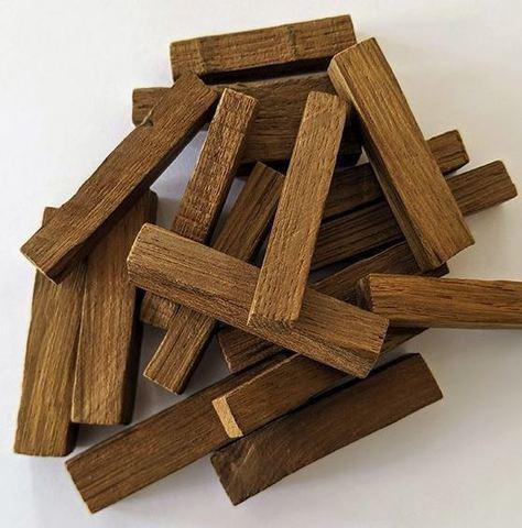 Палочки из скального дуба 1х1х5 (Ваниль, слабый обжиг), 100 грамм