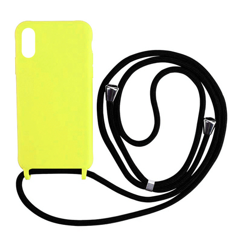 Чехол iPhone XR Silicone Case crossbody bag /flash/