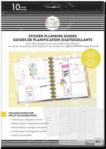 Набор пластиковых макетов для стикеров в планер Big Clear Sticker Planning Guide