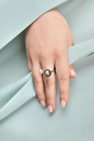 Кольцо Carlotta серое