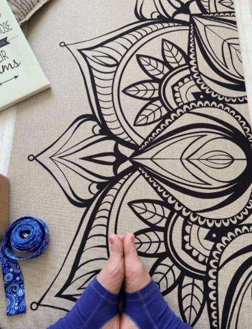 Джутовый коврик для йоги Mandala Jute 181*61*0,3 см