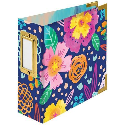 Альбом на кольцах 10х10 см -We R Paper Wrapped D-Ring Album -Floral By Paige Evans