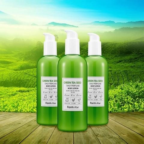 Парфюмированный лосьон для тела с экстрактом зеленого чая FarmStay Green Tea Seed Daily Perfume Body Lotion, 330 мл