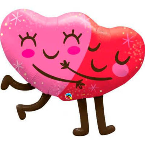 Фигура фольга Обнимающиеся сердца
