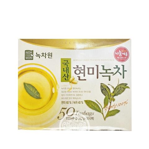 Чай зелёный с коричневым рисом Nokchawon 1,2г50п кор 60г Корея
