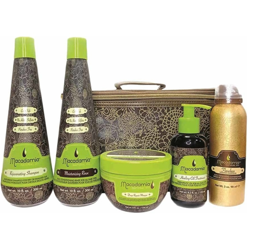 Macadamia Natural Oil: Набор ХИТЫ 1 (шампунь+кондиционер+маска+масло+крем-мусс), 300мл+ 300мл+ 236мл+ 125мл+ 90мл