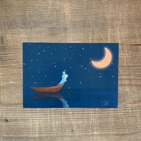 Фотография Открытка авторская почтовая «Лодка» / 10*15 см купить в магазине Афлора