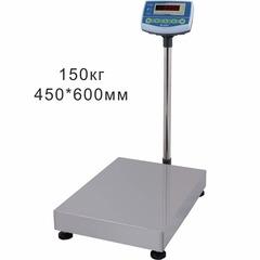 Купить Весы товарные напольные SCALE СКЕ-150-4560, LED, АКБ, RS232, 150кг, 20/50гр, 450*600, с поверкой, съемная стойка. Быстрая доставка