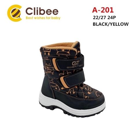 Clibee (зима) A201 Black/Yellow 22-27