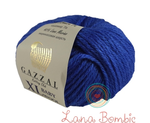 Пряжа Gazzal Baby Wool XL электрик 830